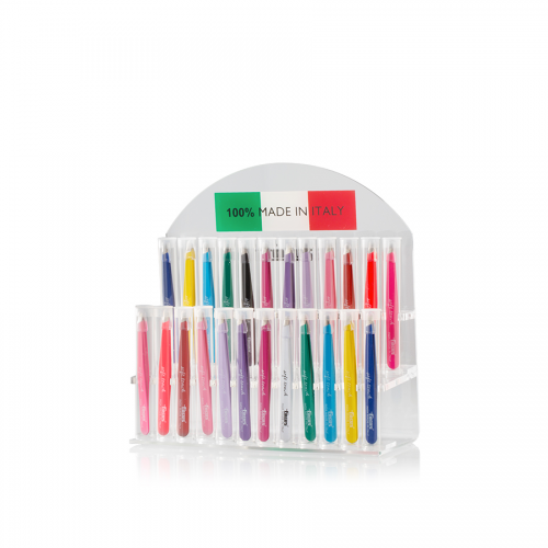 Expo Pinzette Ciglia soft Touch 24 pezzi