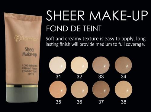 Flormar Sheer Make up Fondotinta 37