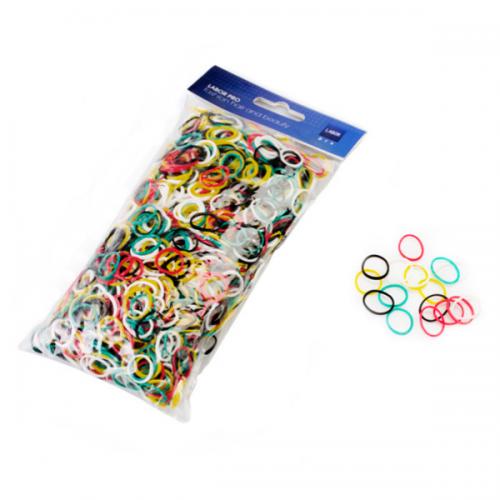 Mini elastici in caucciù colorati 1,5 conf100gr