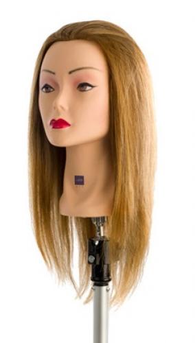 Testamodella 35cm MIX 60% capelli veri 40% fibra sintetica